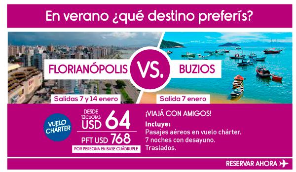 ¿Florianópolis o Buzios?
