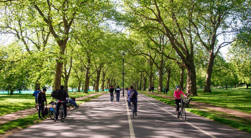 Existing bike paths in Hyde Park are not suitable for increased use, say Royal Parks (CC licenced image by Joe Dunckley-Flickr).jpg